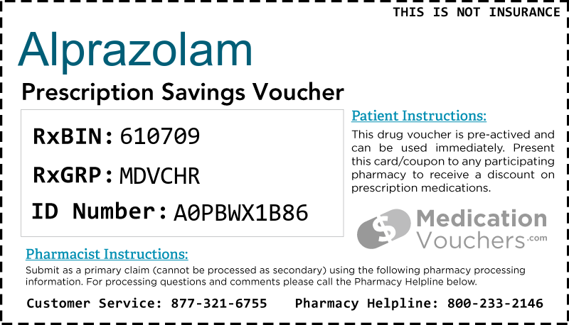 ALPRAZOLAM Voucher Coupon