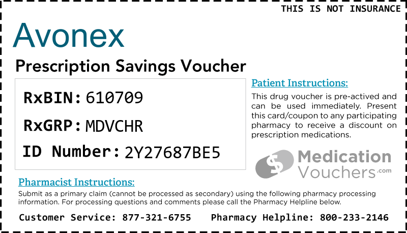 AVONEX Voucher Coupon