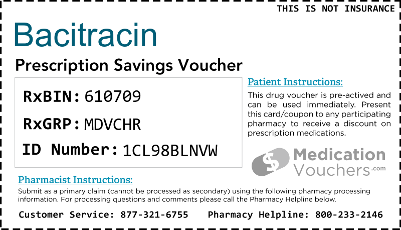 BACITRACIN Voucher Coupon