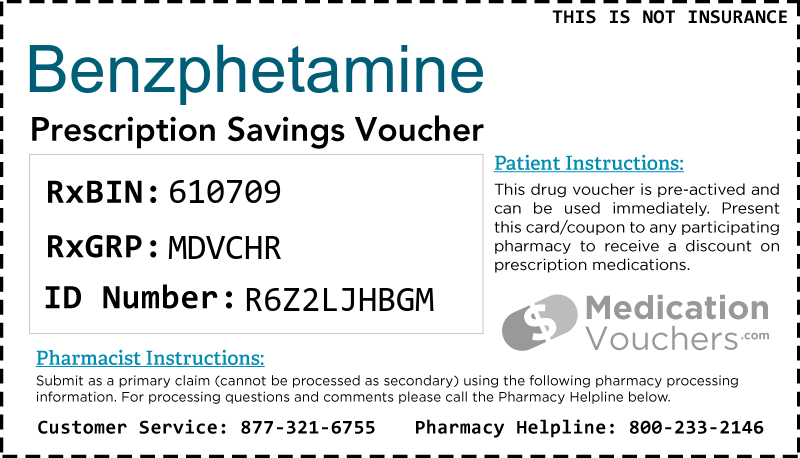 BENZPHETAMINE Voucher Coupon