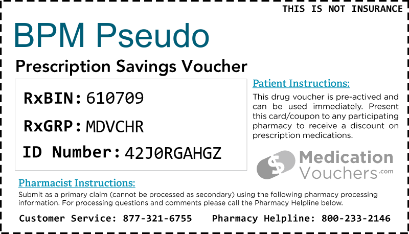 BPM PSEUDO Voucher Coupon
