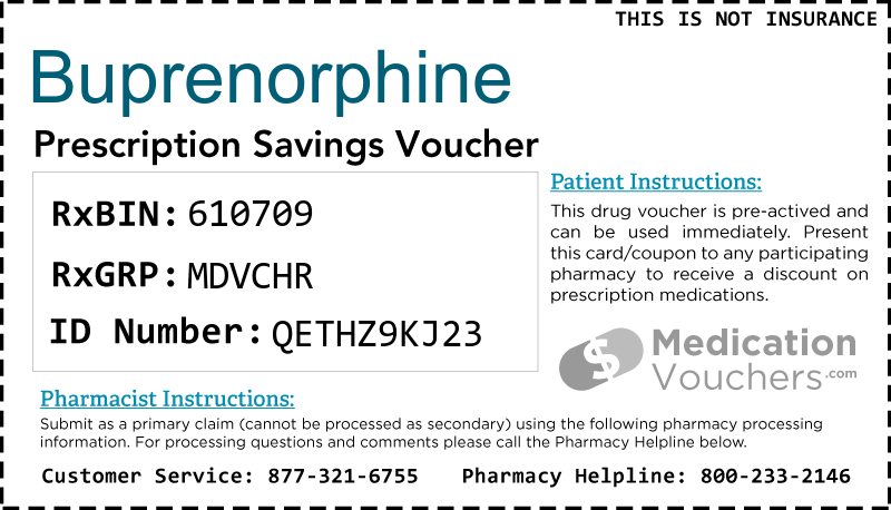 BUPRENORPHINE Voucher Coupon