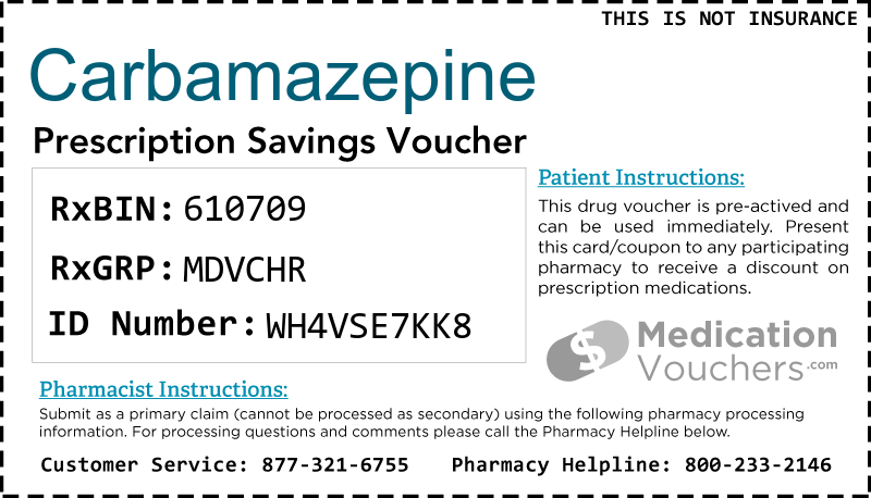 CARBAMAZEPINE Voucher Coupon