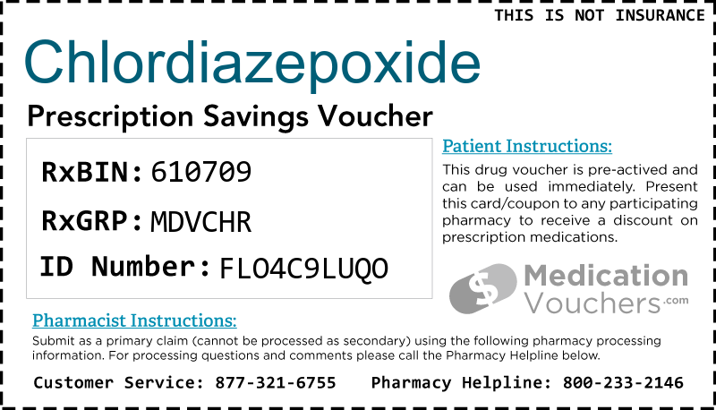 CHLORDIAZEPOXIDE Voucher Coupon