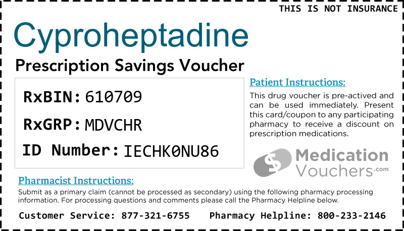 CYPROHEPTADINE Voucher Coupon