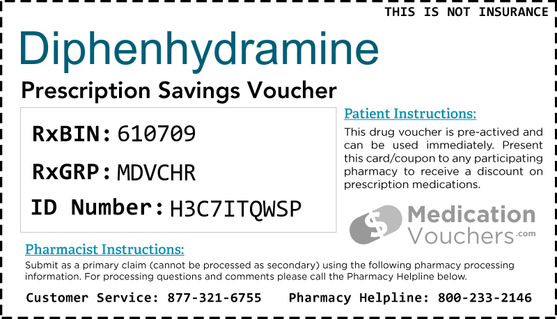 DIPHENHYDRAMINE Voucher Coupon
