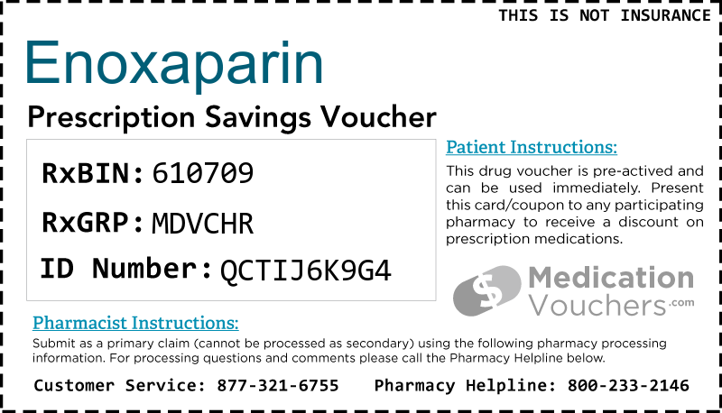 ENOXAPARIN Voucher Coupon