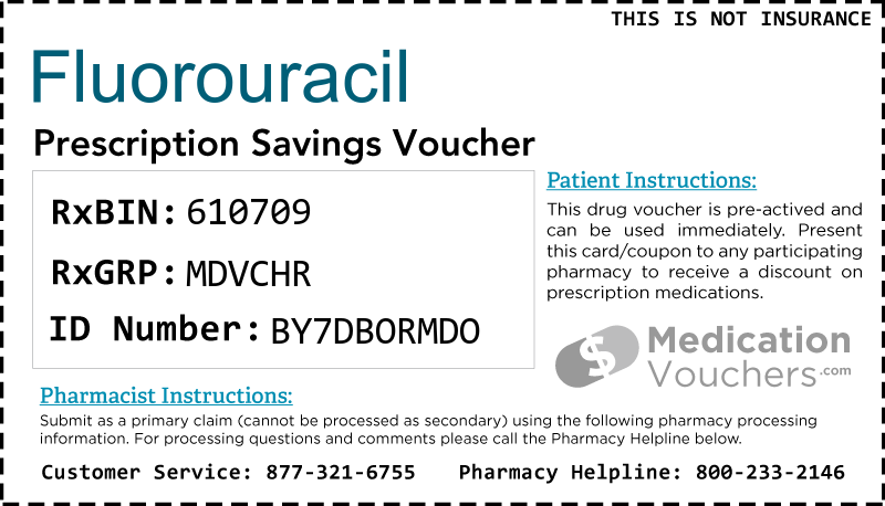 FLUOROURACIL Voucher Coupon