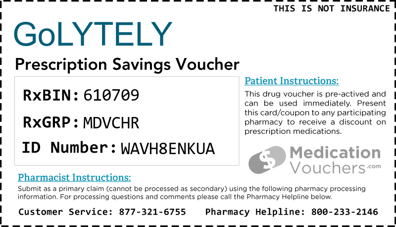 GOLYTELY Voucher Coupon