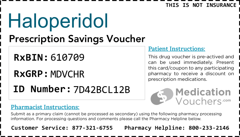 HALOPERIDOL Voucher Coupon