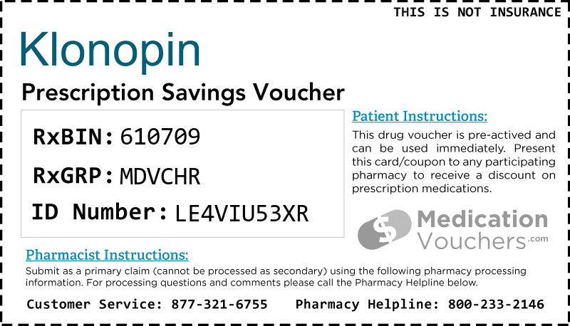 KLONOPIN Voucher Coupon