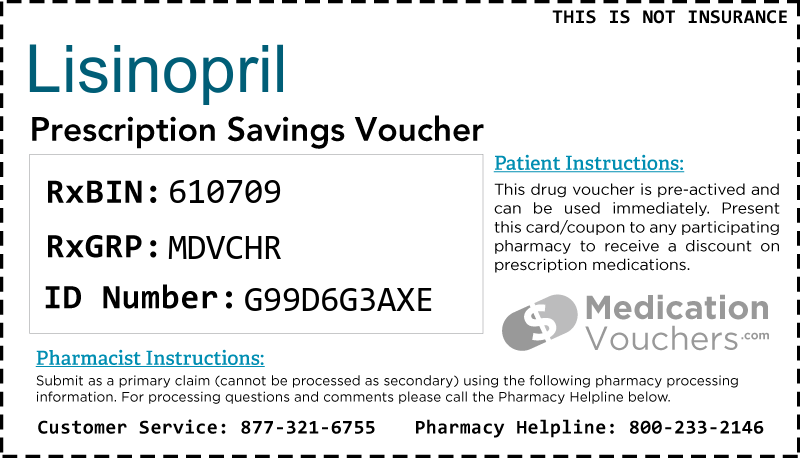 LISINOPRIL Voucher Coupon