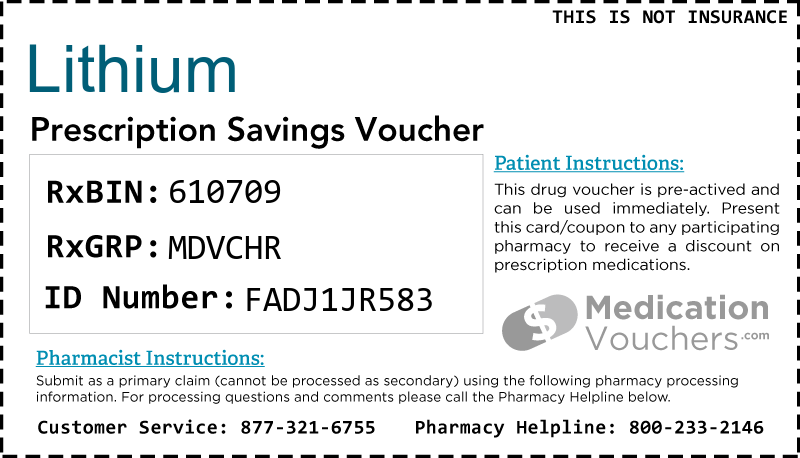 LITHIUM Voucher Coupon