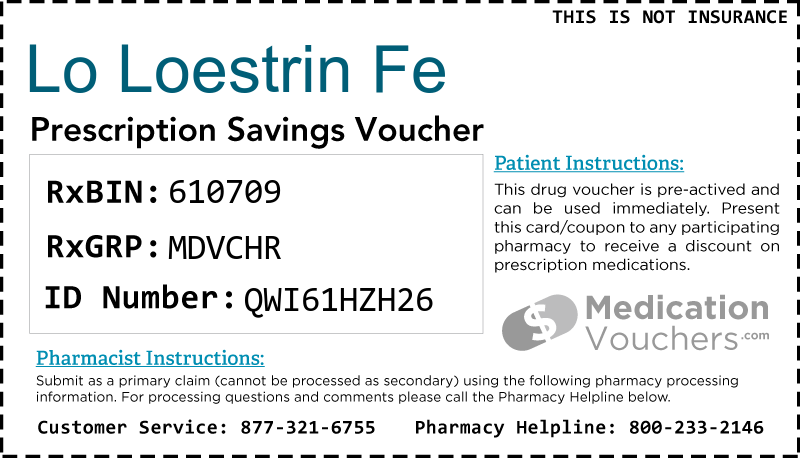 LO LOESTRIN FE Voucher Coupon
