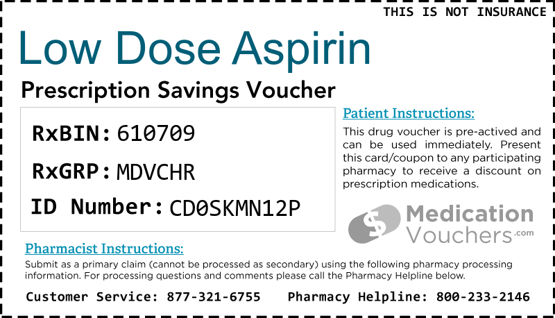 LOW DOSE ASPIRIN Voucher Coupon