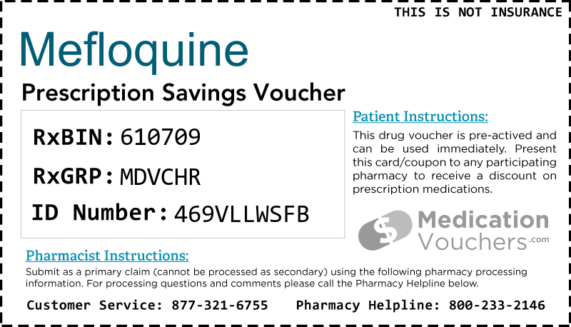 MEFLOQUINE Voucher Coupon