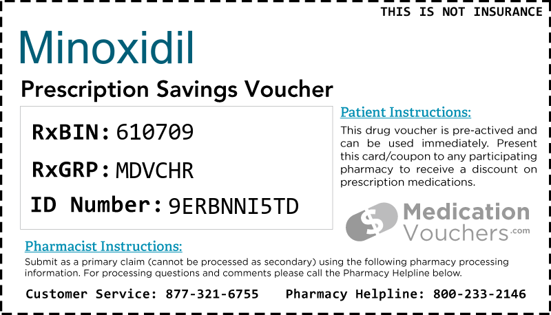 MINOXIDIL Voucher Coupon