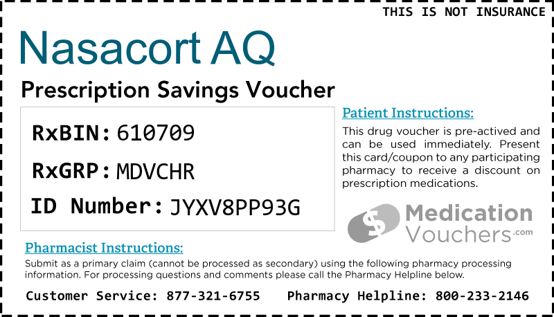 NASACORT AQ Voucher Coupon