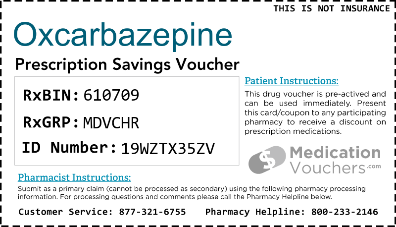 OXCARBAZEPINE Voucher Coupon