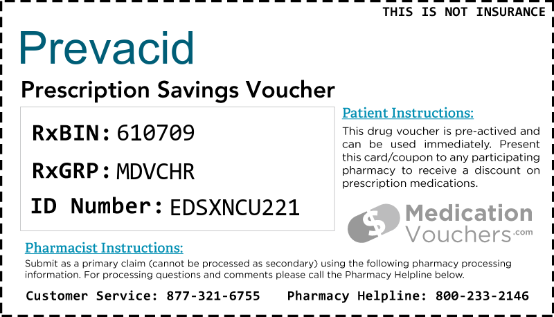 PREVACID Voucher Coupon