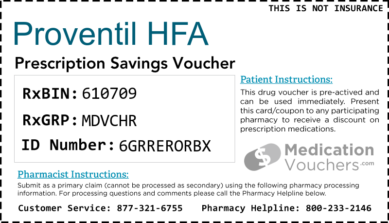 PROVENTIL HFA Voucher Coupon