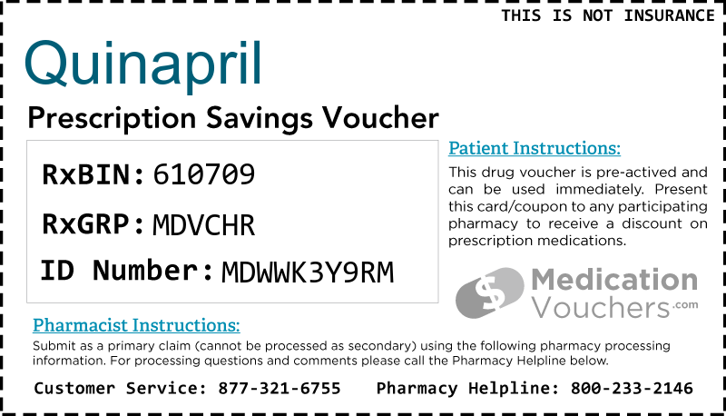QUINAPRIL Voucher Coupon