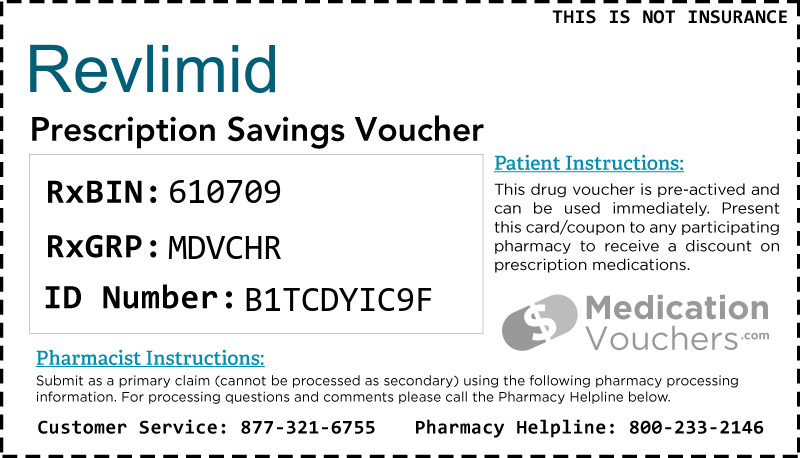 REVLIMID Voucher Coupon