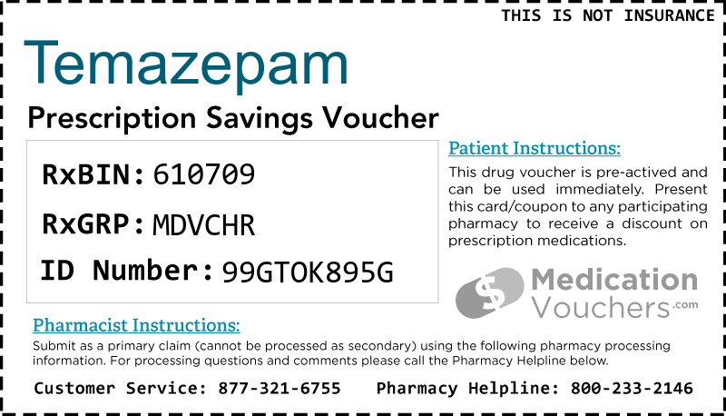 TEMAZEPAM Voucher Coupon
