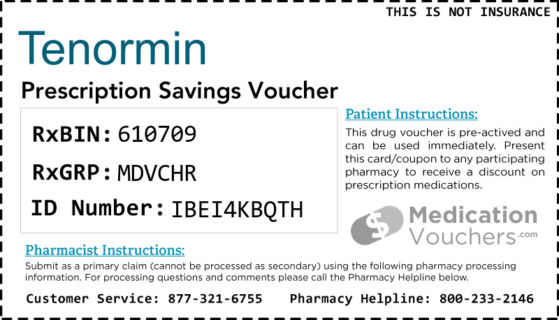 TENORMIN Voucher Coupon