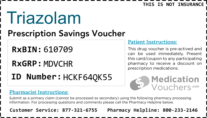 TRIAZOLAM Voucher Coupon
