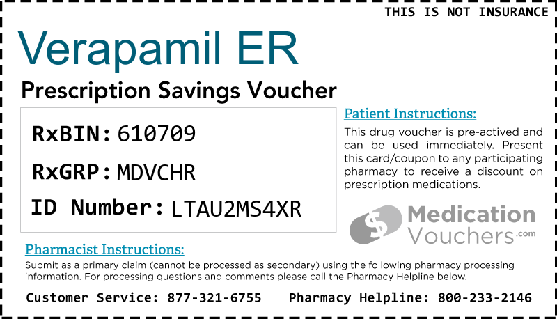 VERAPAMIL ER Voucher Coupon